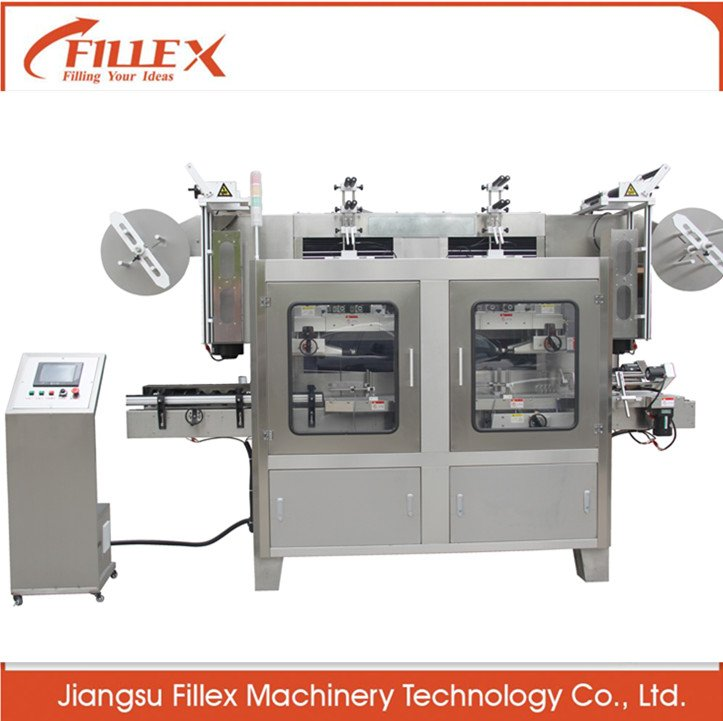 Good Quality Automatic Double Heads Shrink Sleeve Labeling Machine